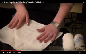 Screen Shot from ASMR YouTube video