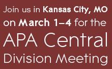 Join us in Kansas City, MO on March 1–4 for the APA Central Division meeting