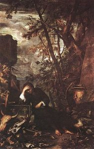 Democritus in Meditation by Salvator Rosa. Public domain via Wikimedia Commons.