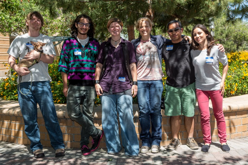 This is a picture of UCSB MAP Chapter Members posing for a picture at the Spring 2015 SoCal Regional Meeting at Irvine. Pictured from left to right: Corey McGrath, John Caravello, Sherri Lynn Conklin, Morgan Bennett Bigelow, Arnel Blake Batoon, Susanna Faulds. Daniel Story not pictured.