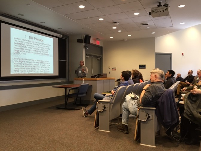 Jay Garfield (Smith) delivering the keynote address at the 2nd Annual Penn-MAP Non-western Philosophy Conference, February 26, 2016