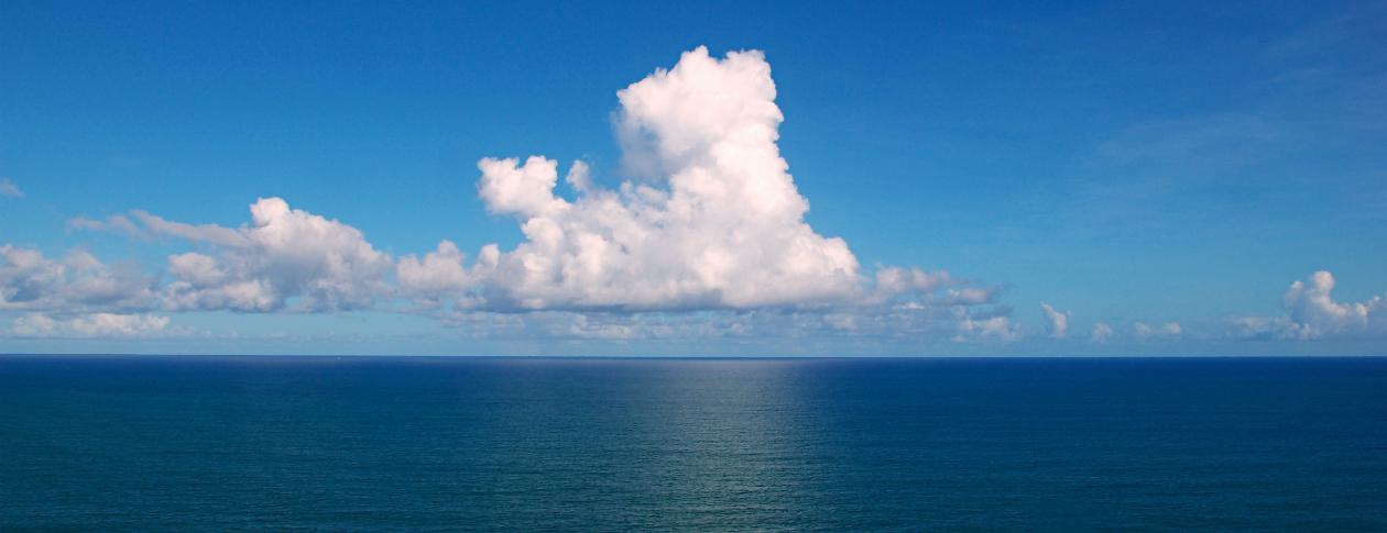 Clouds over the Atlantic Ocean. Salvador, Bahia, Brazil. Photo by Tiago Fioreze. CC-BY-SA 3.0 via Wikimedia Commons.