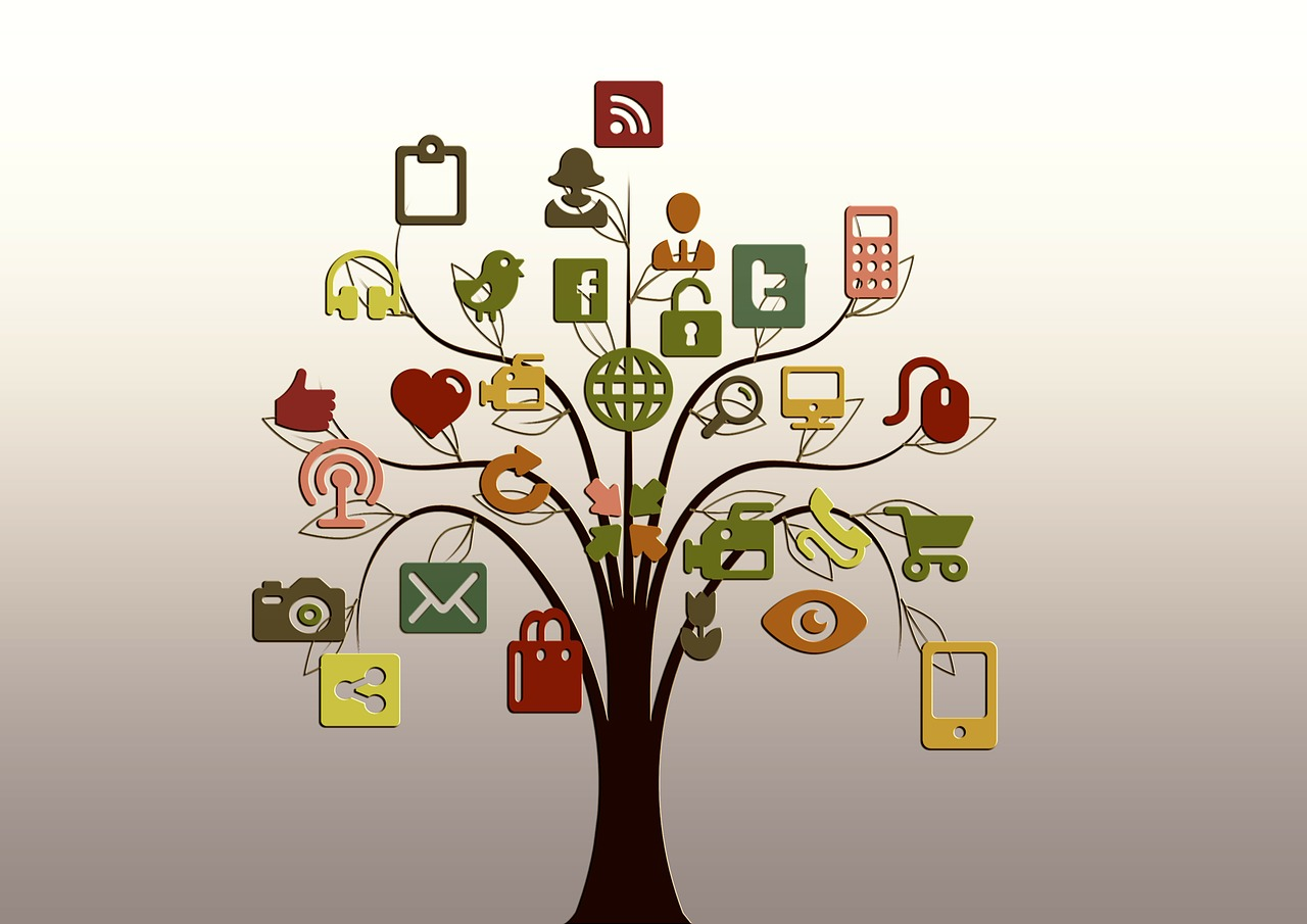 Picture of social media tree