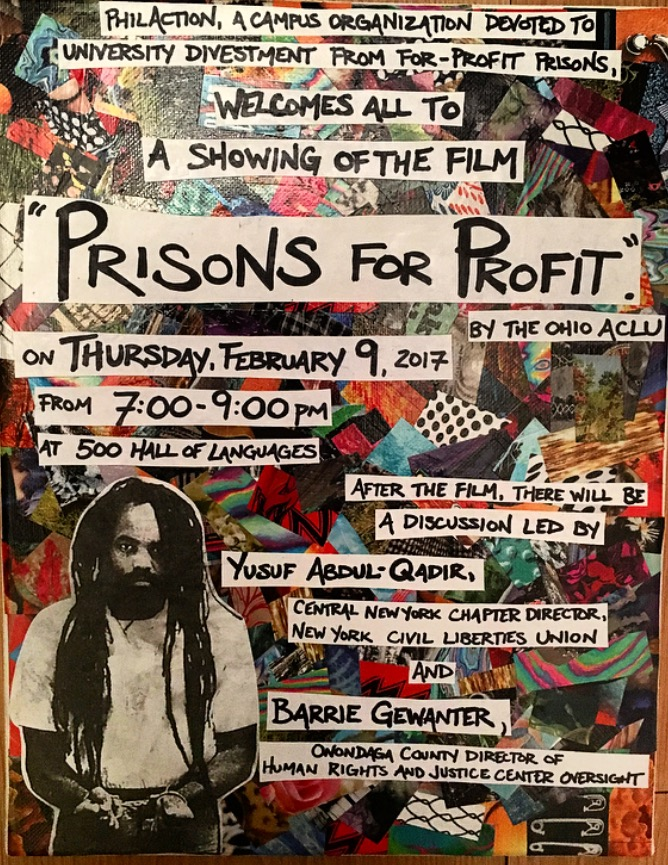Prisons For Profit Poster