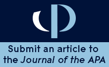 Submit an article to the Journal of the APA