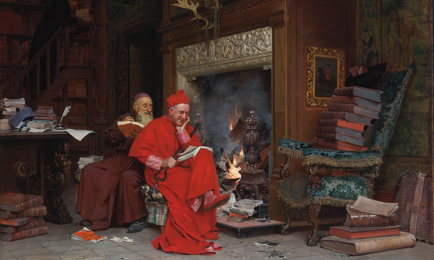The Committee on Moral Books (1866) by Jehan-Georges Vibert. Courtesy Wikipedia