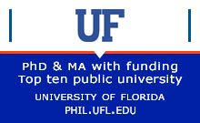 University of Florida PhD & MA with funding. Top ten public University